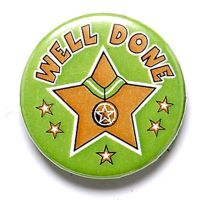 Well Done Button Badge</br>BA020